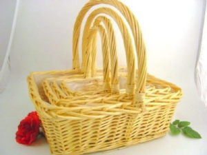 GIANT WILLOW S/4 RECTANGULAR BASKETS X11323